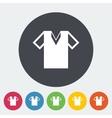 T-shirt single icon vector image vector image