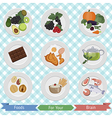 food for brain and health vector image