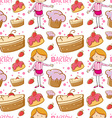 Seamless baker and cakes vector image vector image