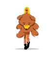 Woman with Teddy Bear Cartoon vector image vector image