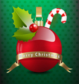 Christmas background with various decors vector image