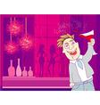 Drunk Man in disco vector image