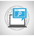globe computer web search communication vector image