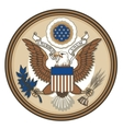 Great Seal of USA vector image
