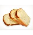 Sliced fresh wheat bread vector image