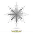 star geometric symbol art vector image