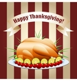 symbol of thanksgiving day fried turkey vector image