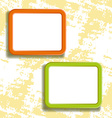 two square frames on the wall vector image