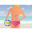 Womens Beach Volleyball vector image
