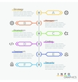 Thin line minimal arrow business cycle template vector image