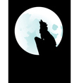 Wolf Howling at the Moon3 vector image