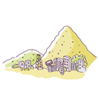 mountain edge City vector image vector image