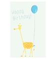 cartoon of giraffe with a ball vector image vector image