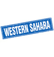Western Sahara blue square grunge vintage isolated vector image