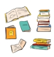 Hand drawn color books set vector image