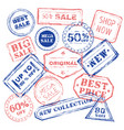 new sale stamp collection vector image