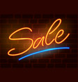 sale neon sign vector image