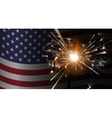 Sparklers on a background of the American flag vector image