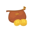 Wallets with money shopping Purse cash vector image