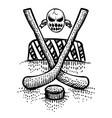 cartoon image of hockey icon sport symbol vector image