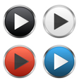 Play Buttons vector image vector image