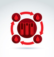 Donor blood and Circulatory system icon test tube vector image