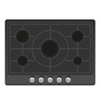 surface for gas stove 01 vector image vector image