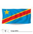 Flag of Democratic Republic of the Congo vector image vector image