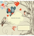 love birds talk vector image vector image