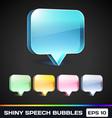 Shiny Speech Bubbles vector image
