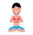 a cartoon girl doing yoga vector image