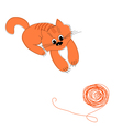 cat and wool vector image