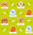 Funny dogs seamless pattern vector image