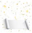 golden and silver star confetti festive of vector image