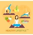 Healthy life diet vector image