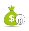 money bag sticker icon graphic vector image