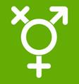 transgender sign icon green vector image