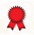 red award badge with ribbon vector image