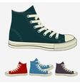 Sneakers set sports mens gym shoes vector image