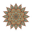 mandala isolated on white vector image vector image