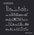 ayurvedic supplies icons vector image