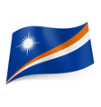 State flag of Marshall Islands vector image vector image