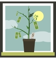 Money Sprouting - dollar bills sprouting from vector image