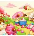 Sweet landscape background vector image vector image