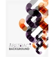 Geometrical background circle shapes vector image vector image