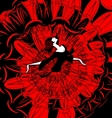 image of dancer in red-black vector image vector image