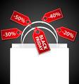 Black Friday shoping bag vector image