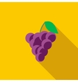 Bunch of wine grapes icon flat style vector image