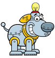 Cartoon mechanical dog vector image