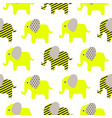 cute elephant cartoon neon green baby seamless vector image